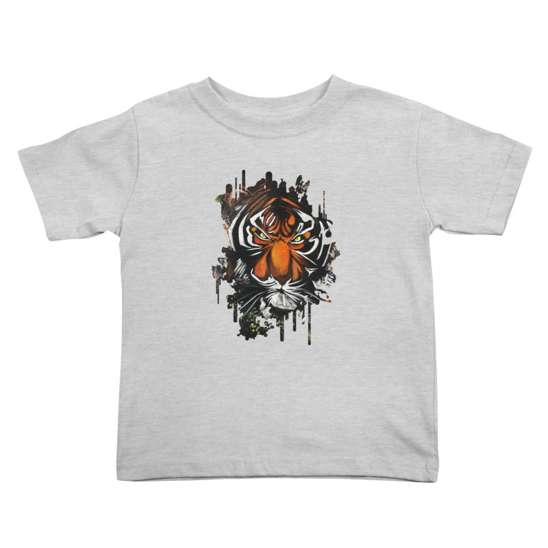 Tiger Stare Kids Toddler T-Shirt by adamzworld's Artist Shop