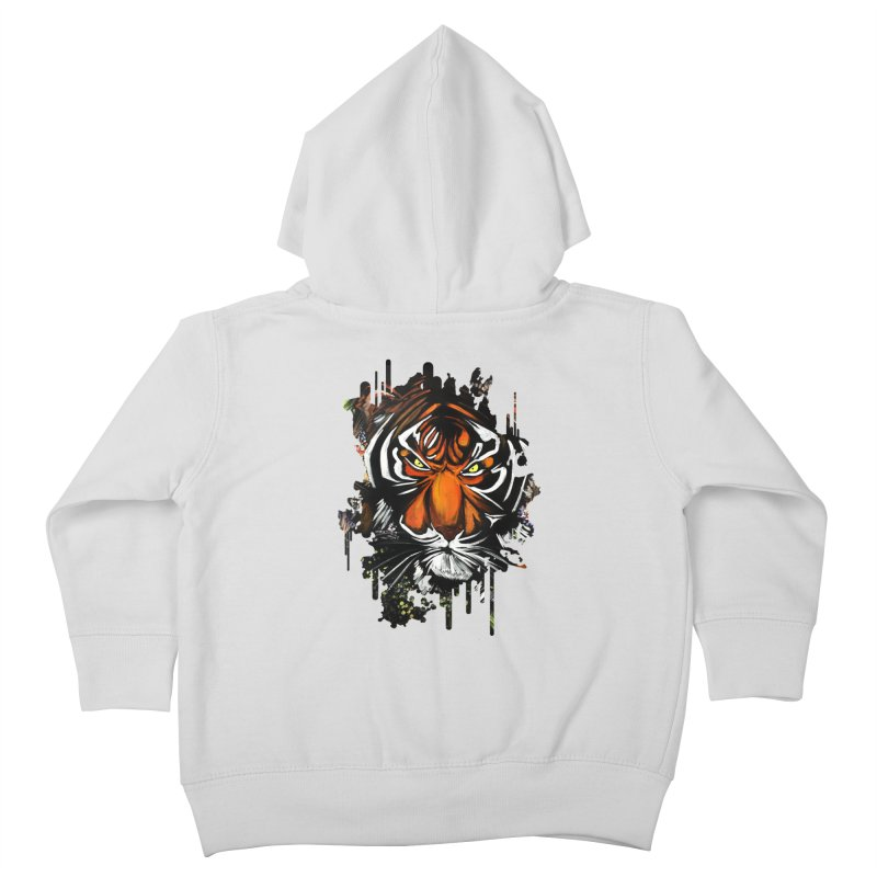 Tiger Stare Kids Toddler Zip-Up Hoody by adamzworld's Artist Shop