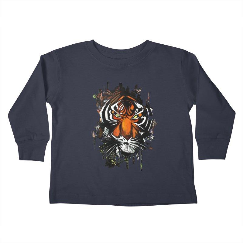Tiger Stare Kids Toddler Longsleeve T-Shirt by adamzworld's Artist Shop