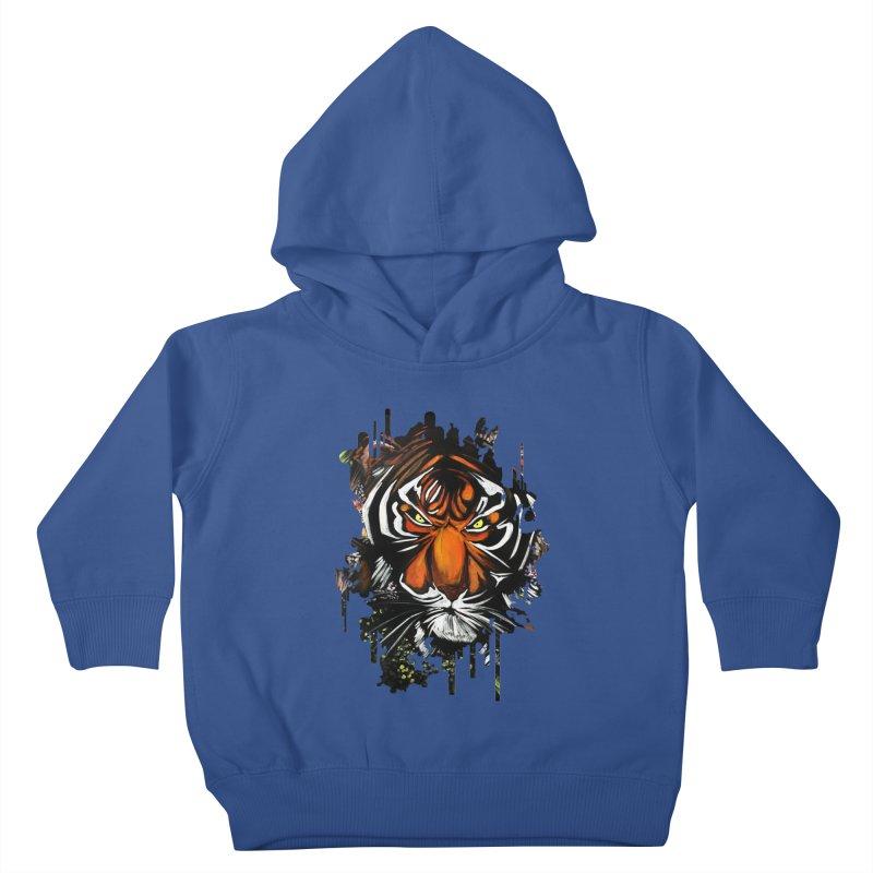 Tiger Stare Kids Toddler Pullover Hoody by adamzworld's Artist Shop
