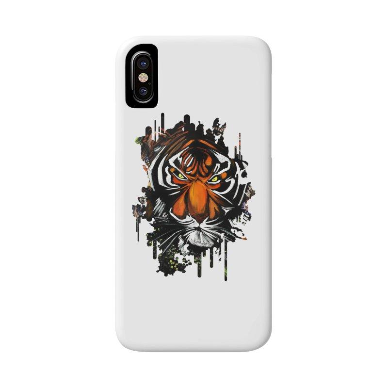 Tiger Stare Accessories Phone Case by adamzworld's Artist Shop