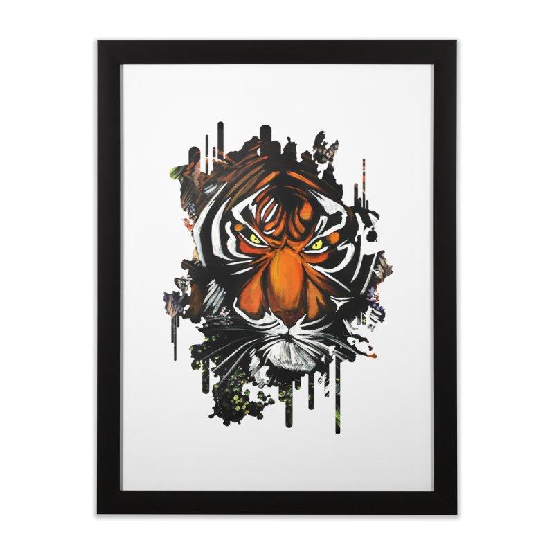Tiger Stare Home Framed Fine Art Print by adamzworld's Artist Shop