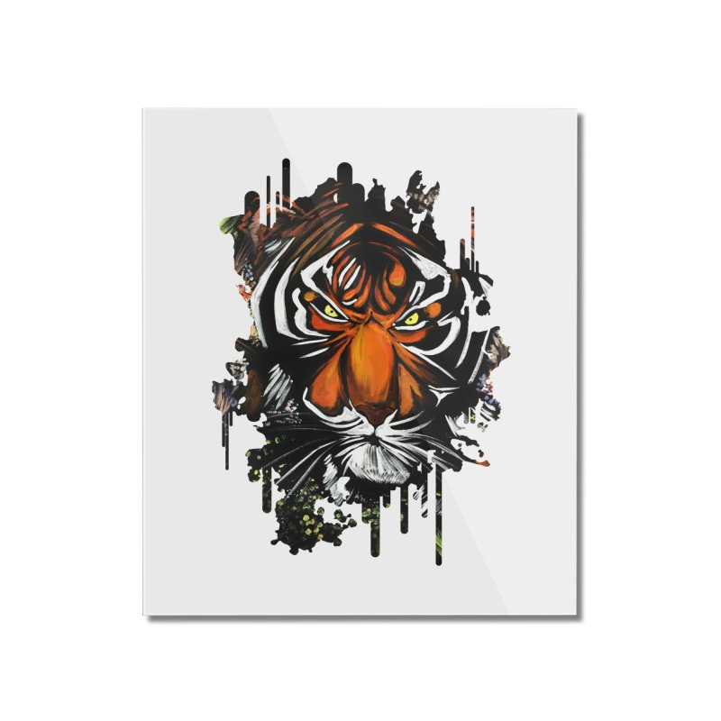 Tiger Stare Home Mounted Acrylic Print by adamzworld's Artist Shop
