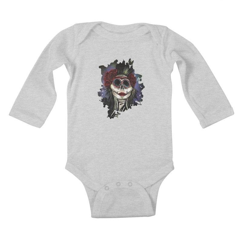 Night Of The Dead Kids Baby Longsleeve Bodysuit by adamzworld's Artist Shop