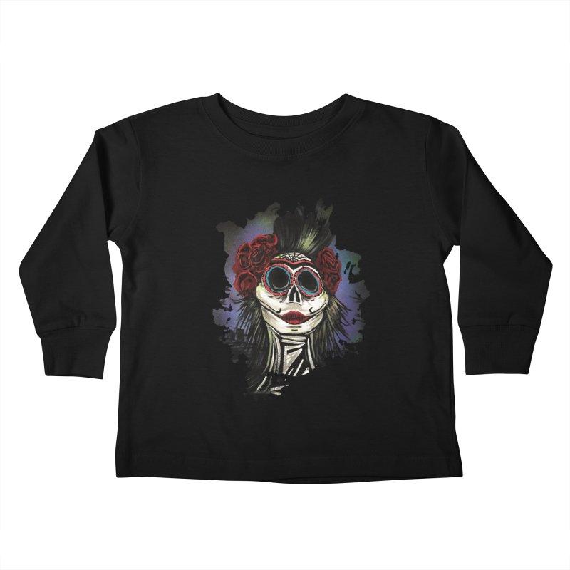 Night Of The Dead Kids Toddler Longsleeve T-Shirt by adamzworld's Artist Shop
