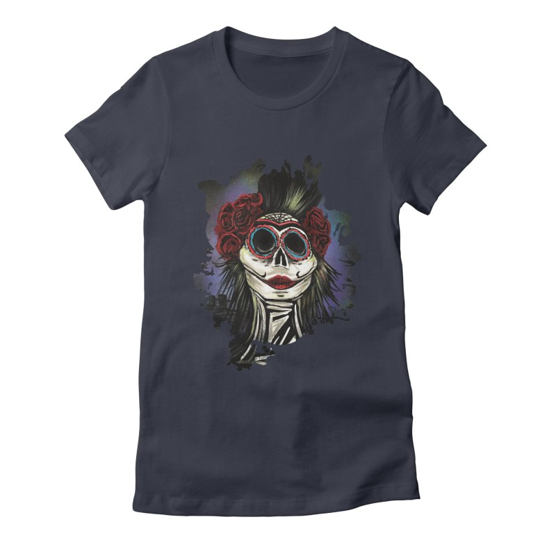 Night Of The Dead Women's Fitted T-Shirt by adamzworld's Artist Shop
