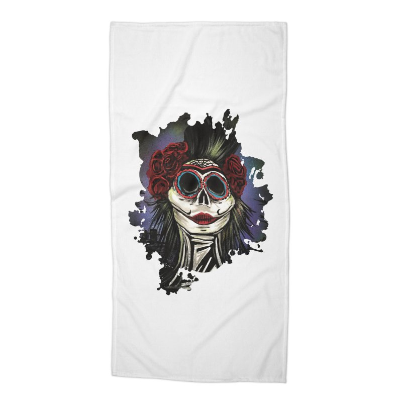 Night Of The Dead Accessories Beach Towel by adamzworld's Artist Shop