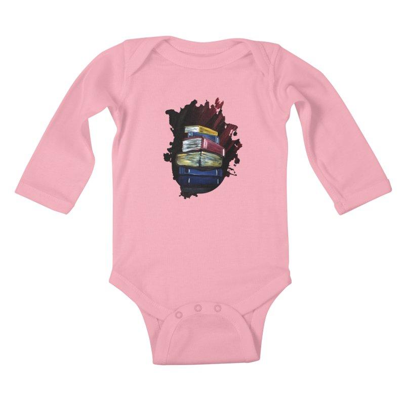Books Of Knowledge Kids Baby Longsleeve Bodysuit by adamzworld's Artist Shop