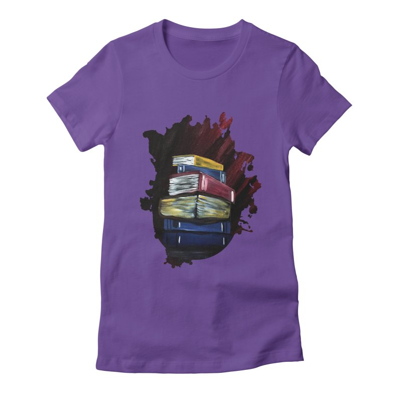 Books Of Knowledge Women's Fitted T-Shirt by adamzworld's Artist Shop