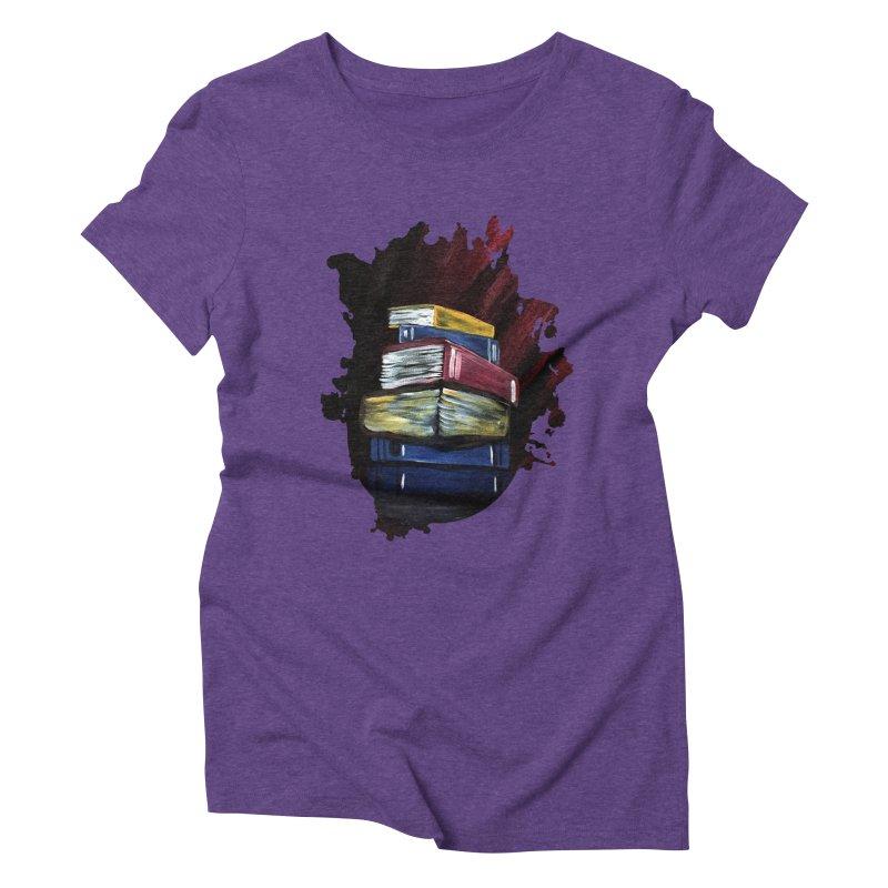 Books Of Knowledge Women's Triblend T-shirt by adamzworld's Artist Shop