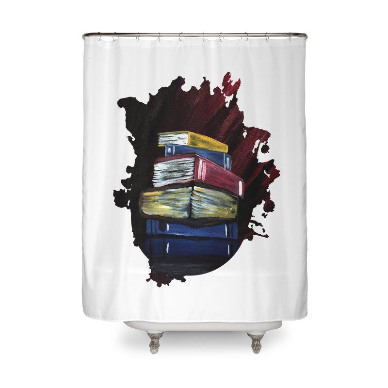 Books Of Knowledge Home Shower Curtain by adamzworld's Artist Shop