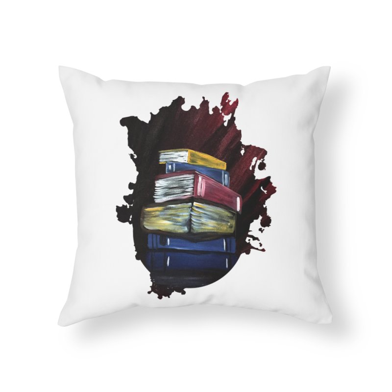 Books Of Knowledge Home Throw Pillow by adamzworld's Artist Shop