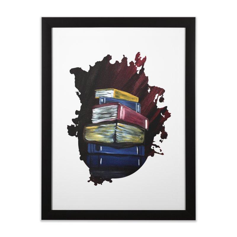 Books Of Knowledge Home Framed Fine Art Print by adamzworld's Artist Shop