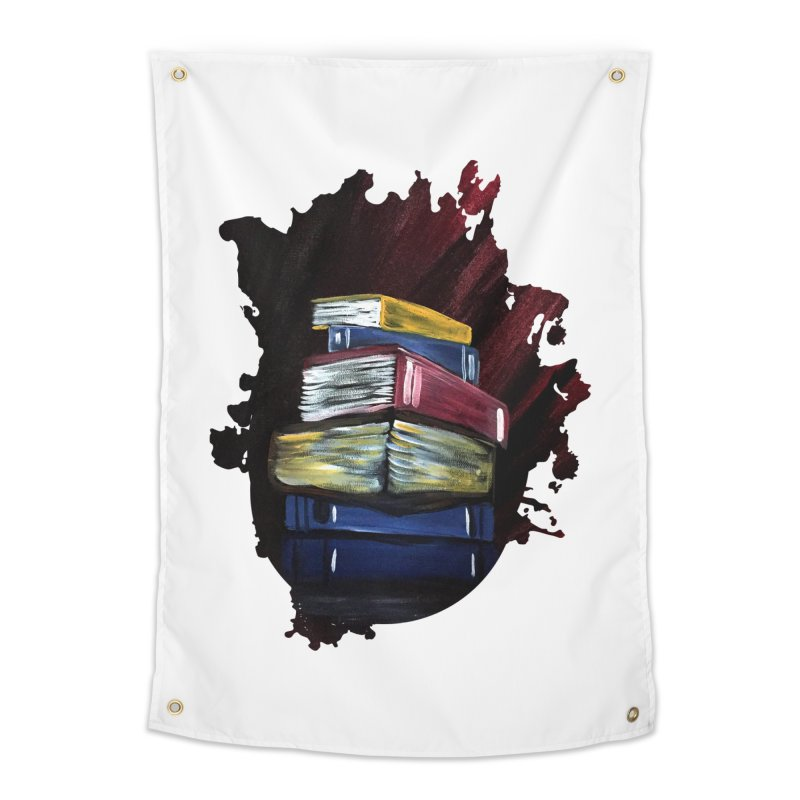 Books Of Knowledge Home Tapestry by adamzworld's Artist Shop