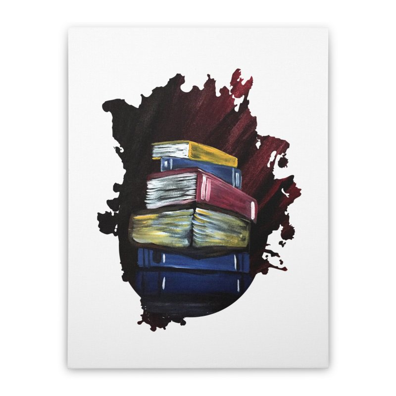 Books Of Knowledge Home Stretched Canvas by adamzworld's Artist Shop