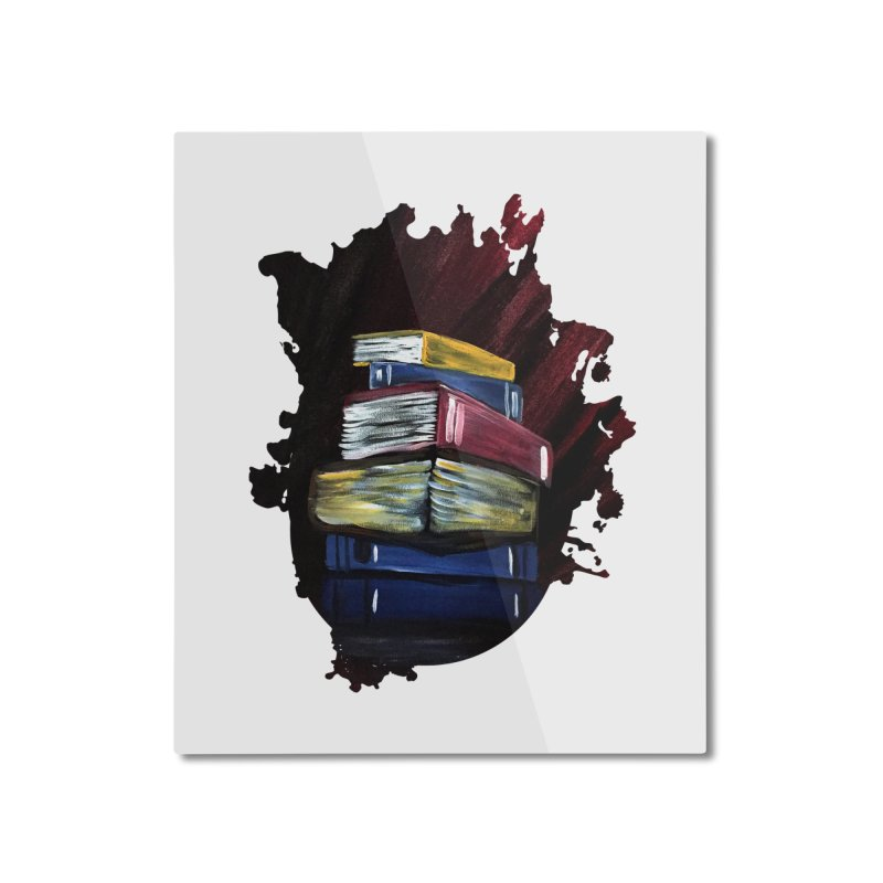 Books Of Knowledge Home Mounted Aluminum Print by adamzworld's Artist Shop