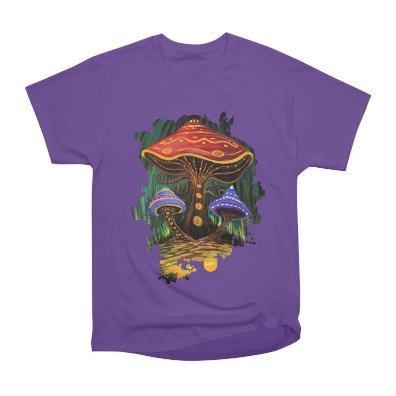 A Mushroom World Women's Classic Unisex T-Shirt by adamzworld's Artist Shop