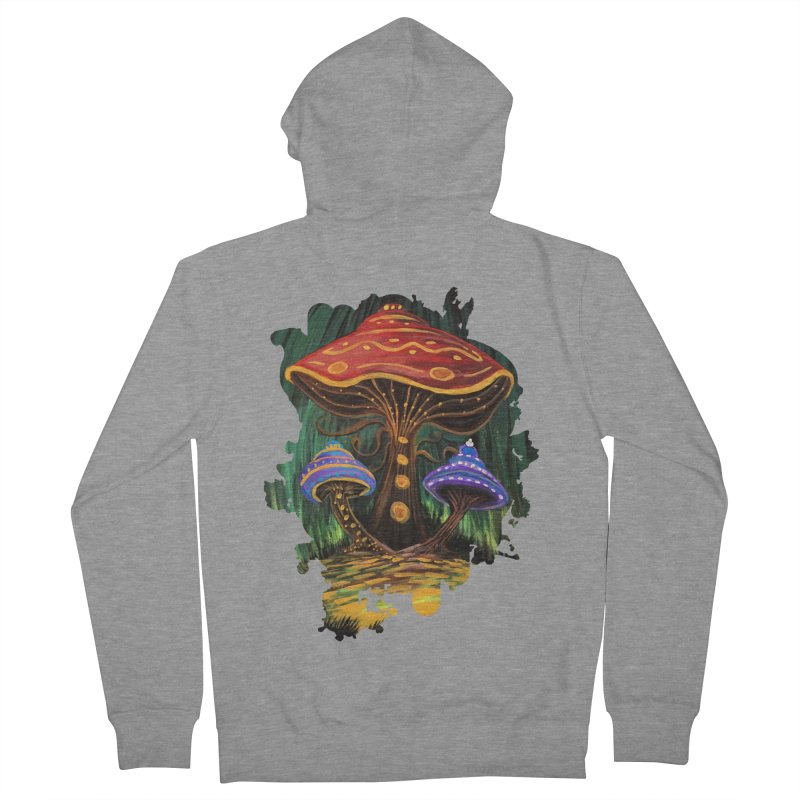 A Mushroom World Women's Zip-Up Hoody by adamzworld's Artist Shop
