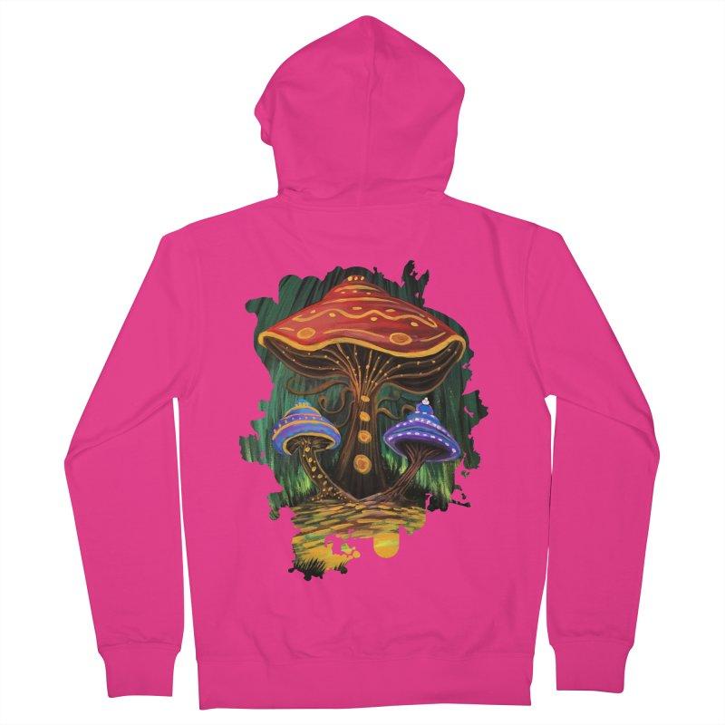 A Mushroom World Men's Zip-Up Hoody by adamzworld's Artist Shop