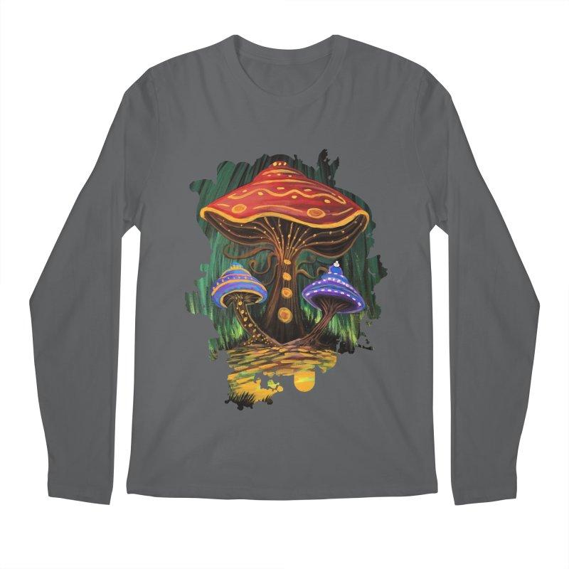 A Mushroom World Men's Longsleeve T-Shirt by adamzworld's Artist Shop