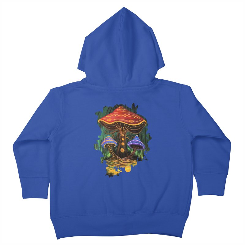 A Mushroom World Kids Toddler Zip-Up Hoody by adamzworld's Artist Shop