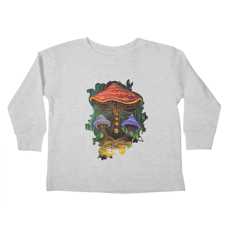 A Mushroom World Kids Toddler Longsleeve T-Shirt by adamzworld's Artist Shop