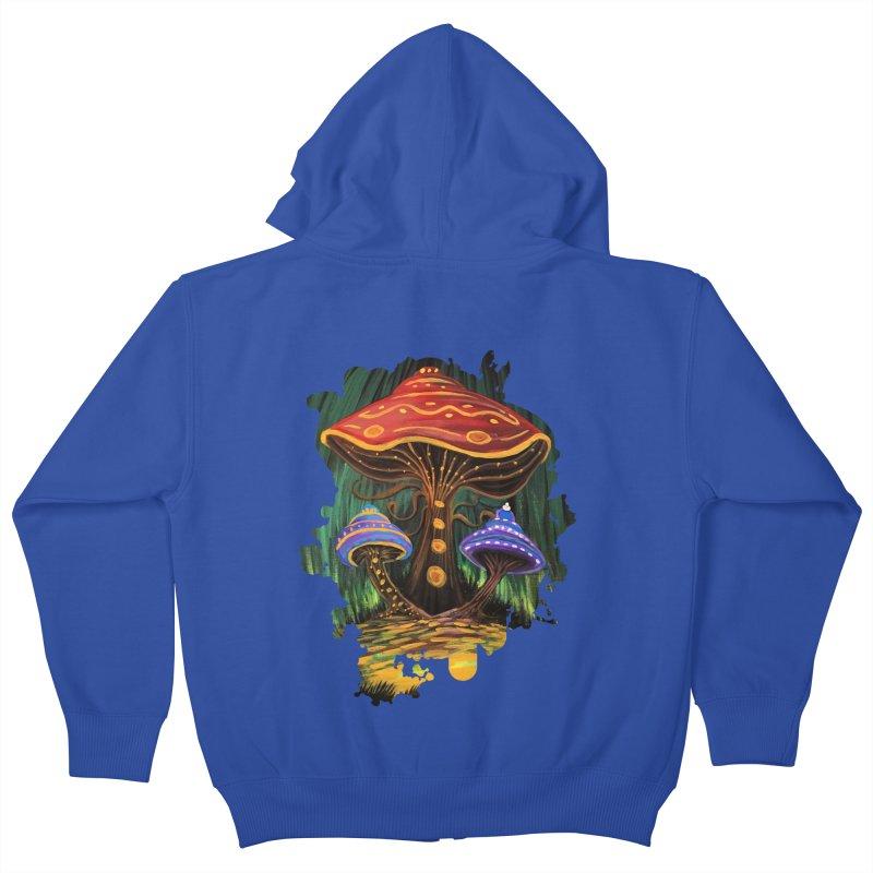 A Mushroom World Kids Zip-Up Hoody by adamzworld's Artist Shop