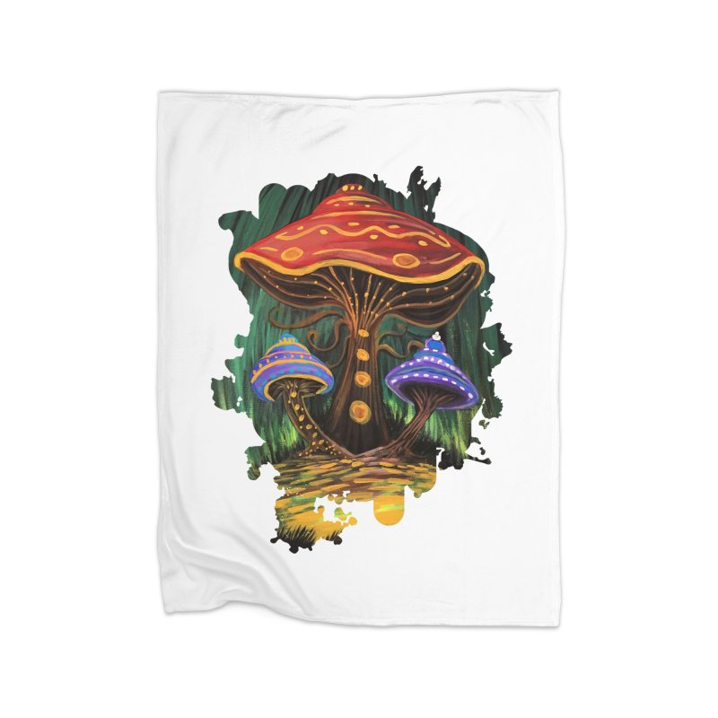 A Mushroom World Home Blanket by adamzworld's Artist Shop