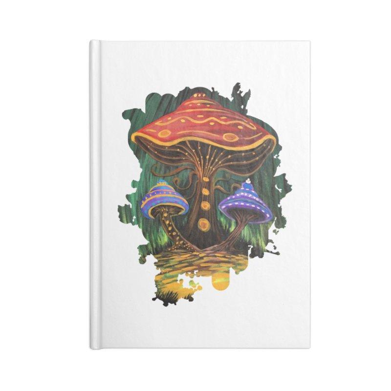 A Mushroom World Accessories Notebook by adamzworld's Artist Shop