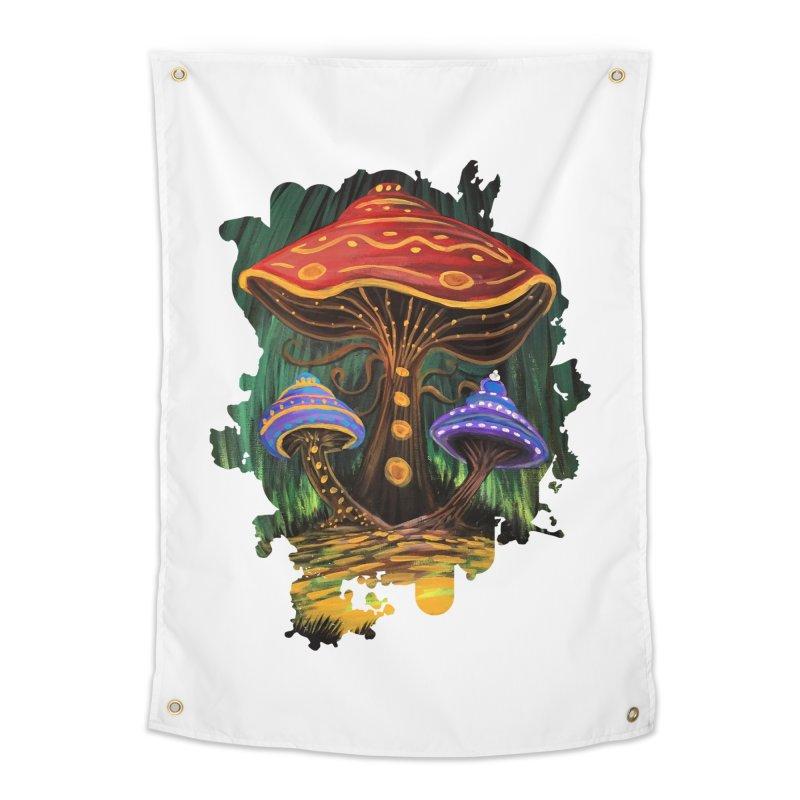 A Mushroom World Home Tapestry by adamzworld's Artist Shop