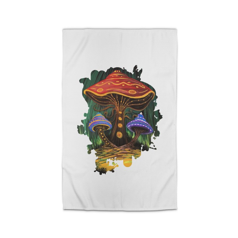 A Mushroom World Home Rug by adamzworld's Artist Shop