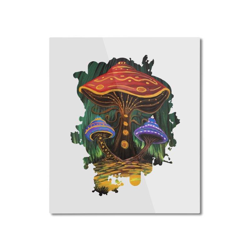 A Mushroom World Home Mounted Aluminum Print by adamzworld's Artist Shop