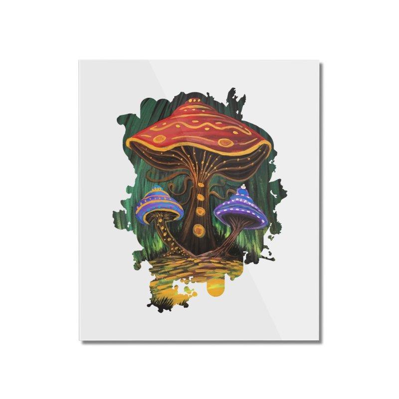 A Mushroom World Home Mounted Acrylic Print by adamzworld's Artist Shop