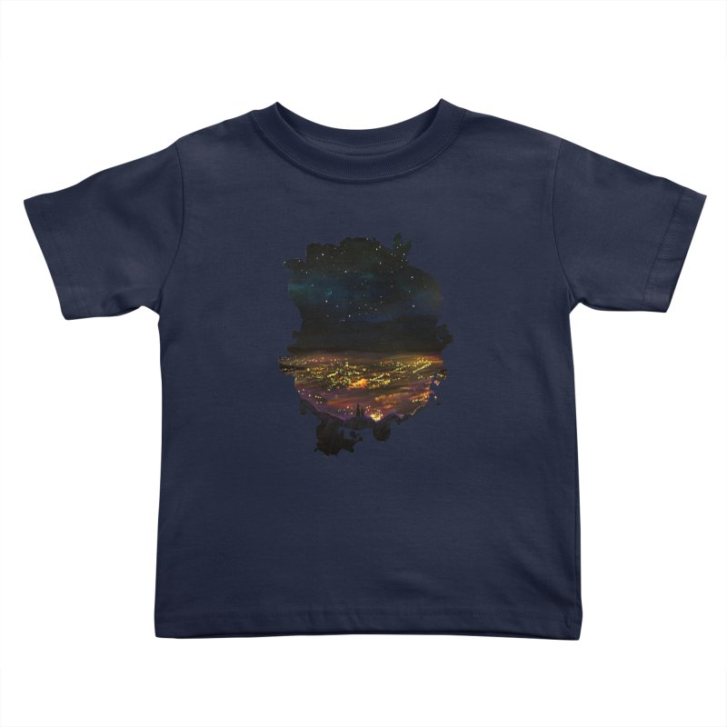 On The Edge Kids Toddler T-Shirt by adamzworld's Artist Shop