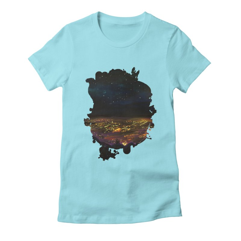 On The Edge Women's Fitted T-Shirt by adamzworld's Artist Shop