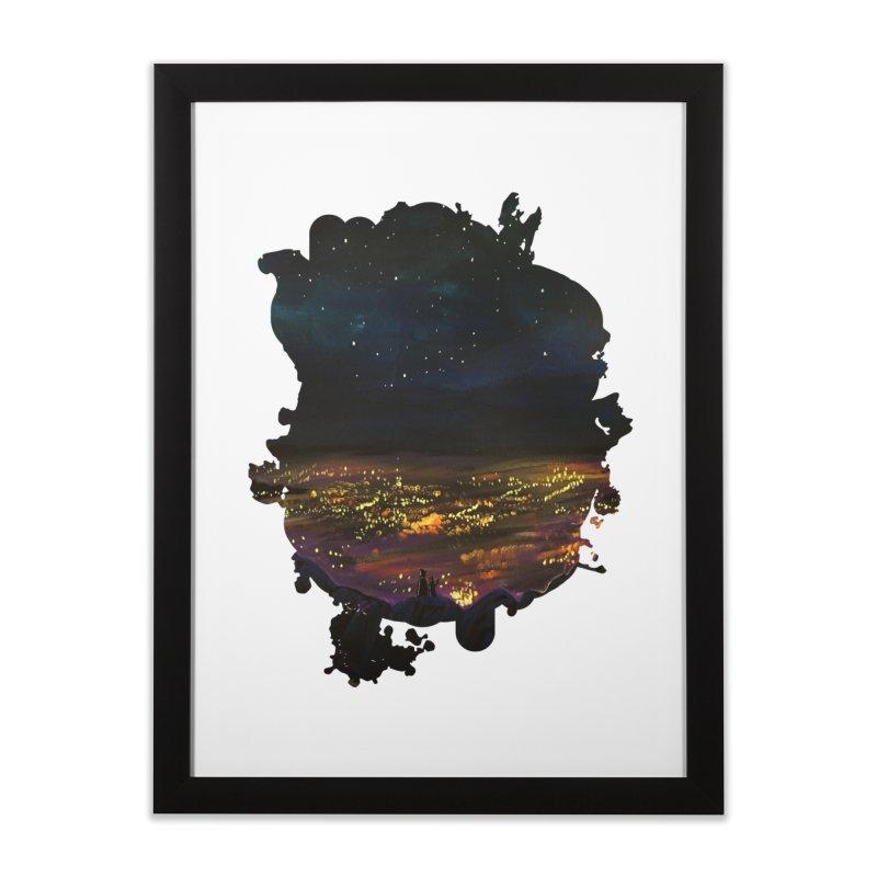 On The Edge Home Framed Fine Art Print by adamzworld's Artist Shop