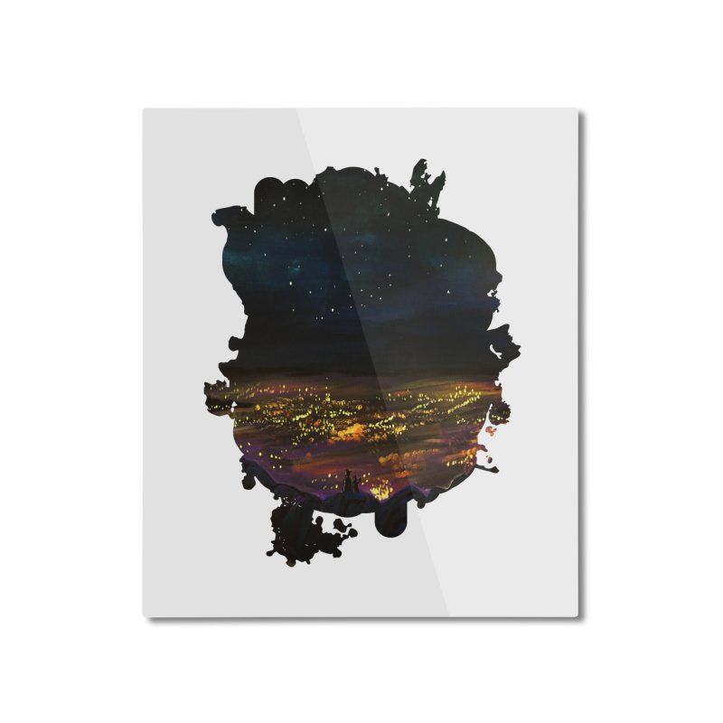On The Edge Home Mounted Aluminum Print by adamzworld's Artist Shop