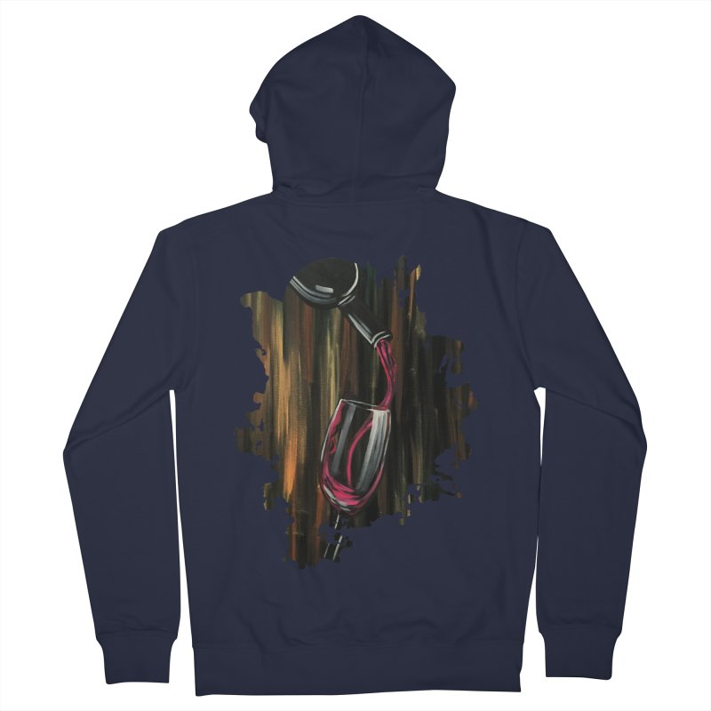Fine Wine Women's Zip-Up Hoody by adamzworld's Artist Shop