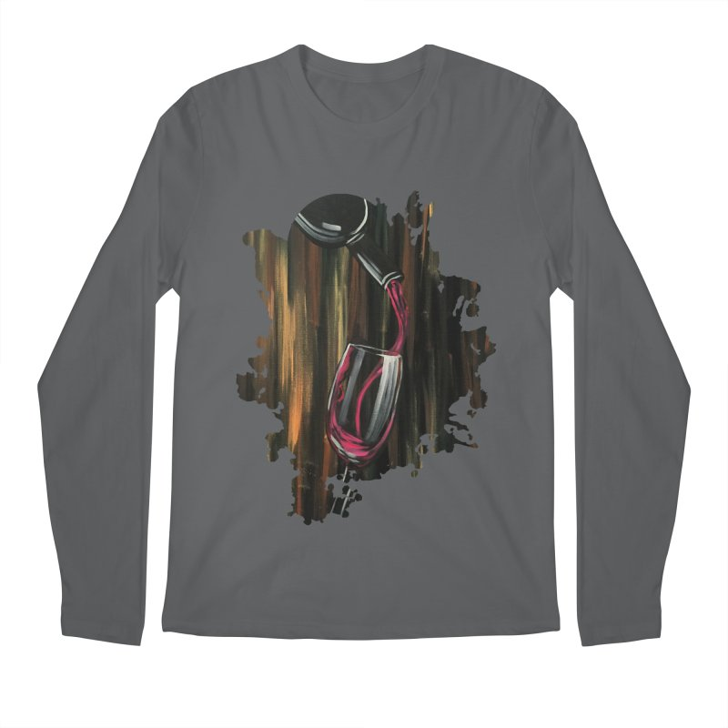 Fine Wine Men's Longsleeve T-Shirt by adamzworld's Artist Shop