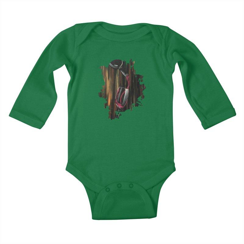 Fine Wine Kids Baby Longsleeve Bodysuit by adamzworld's Artist Shop