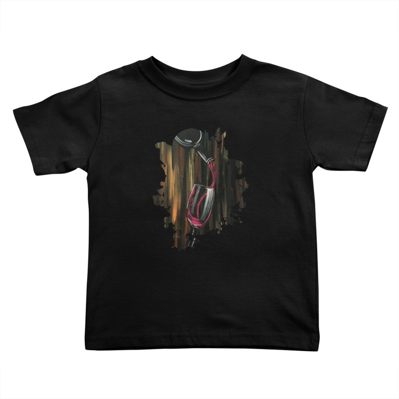 Fine Wine Kids Toddler T-Shirt by adamzworld's Artist Shop