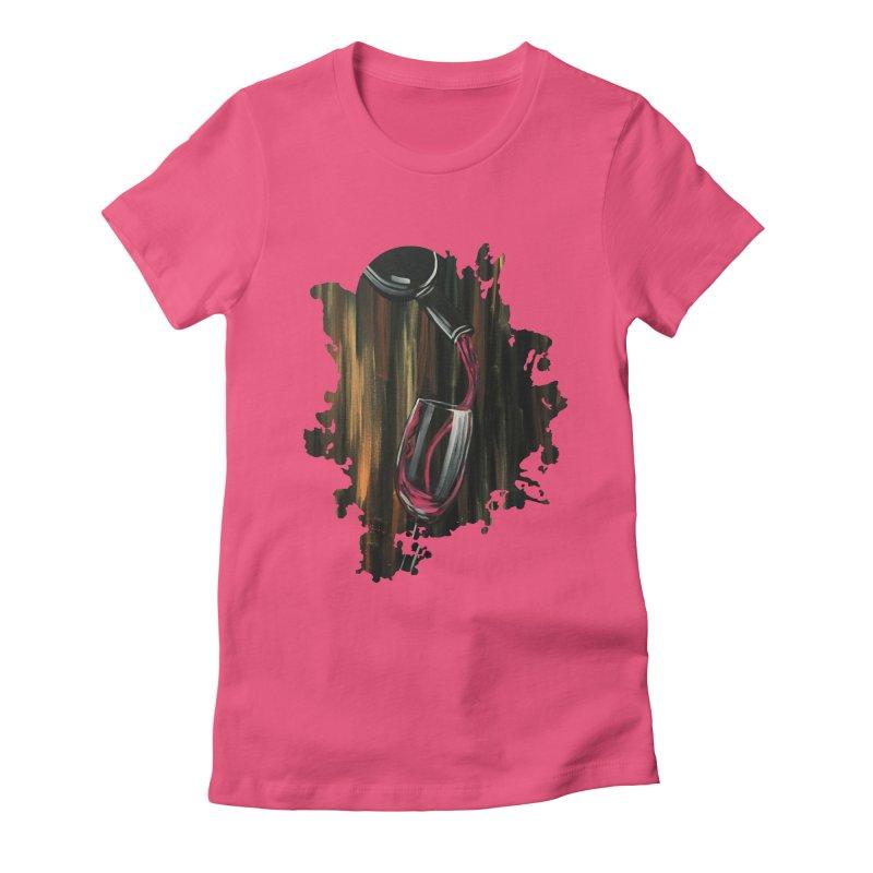 Fine Wine Women's Fitted T-Shirt by adamzworld's Artist Shop