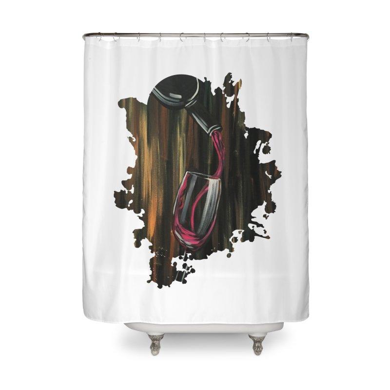 Fine Wine Home Shower Curtain by adamzworld's Artist Shop