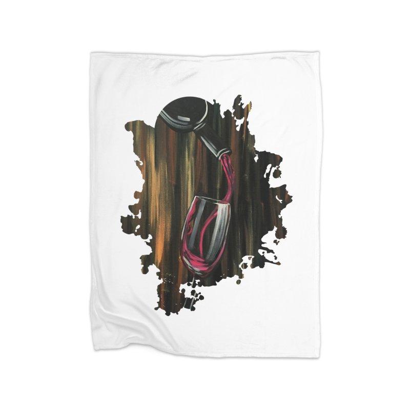 Fine Wine Home Blanket by adamzworld's Artist Shop