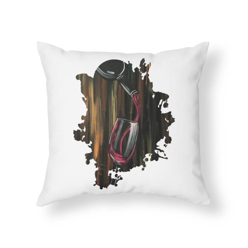 Fine Wine Home Throw Pillow by adamzworld's Artist Shop