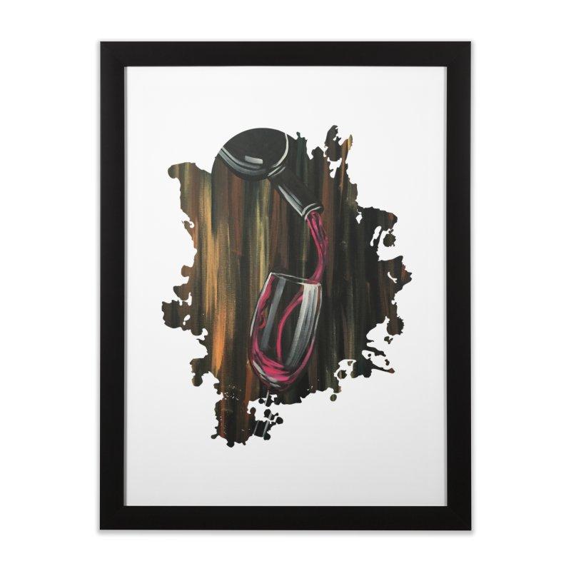 Fine Wine Home Framed Fine Art Print by adamzworld's Artist Shop