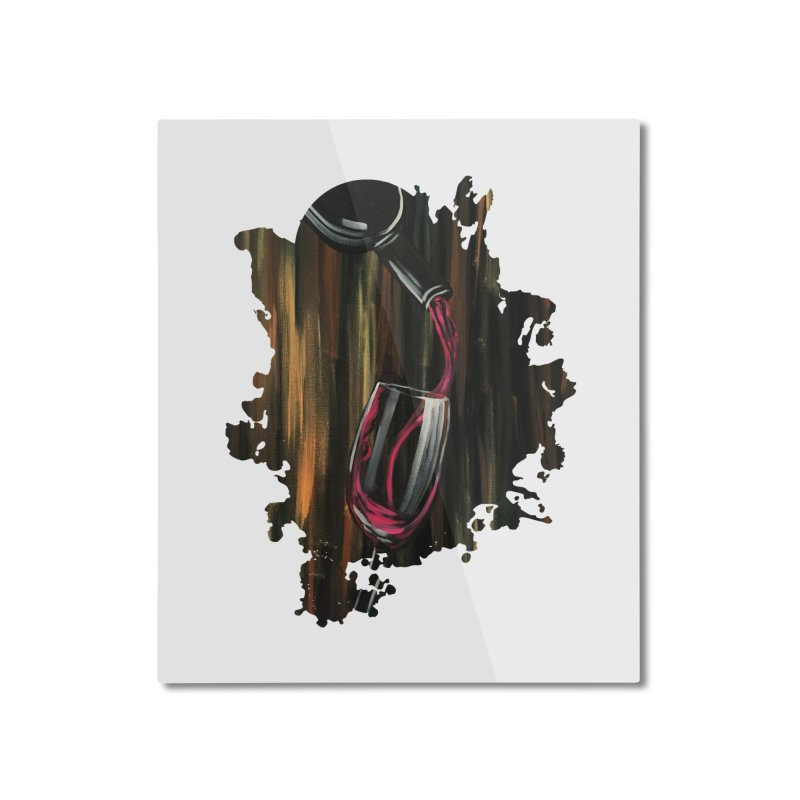 Fine Wine Home Mounted Aluminum Print by adamzworld's Artist Shop