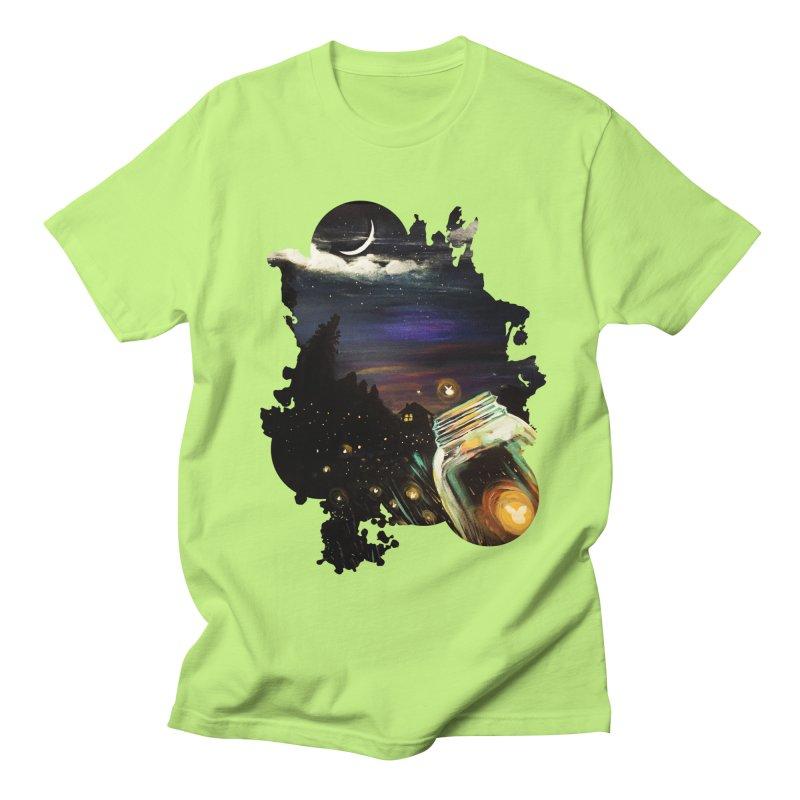 Firefly Sky Men's T-Shirt by adamzworld's Artist Shop