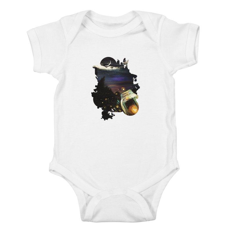 Firefly Sky Kids Baby Bodysuit by adamzworld's Artist Shop