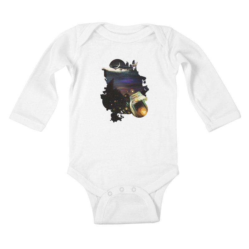 Firefly Sky Kids Baby Longsleeve Bodysuit by adamzworld's Artist Shop